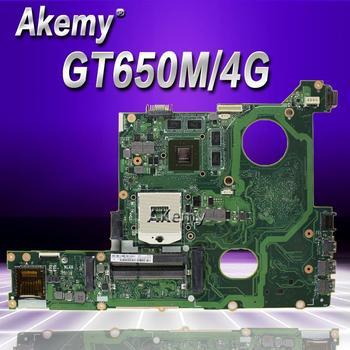 Placa base Akemy N46VZ para ordenador portátil For Asus N46V N46VZ N46VB N46VV N46VJ N46VM, placa base original de prueba GT650/4GB Graphic