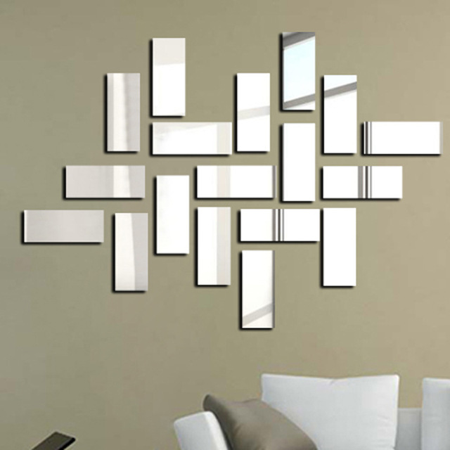 special offer modern acrylic 3d sticker square new design mirror