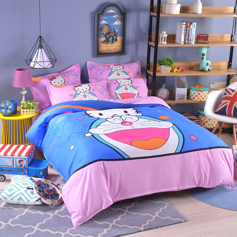 купить UNIKIDS Cute cartoon duvet cover set bedding set for Kids boy or girls Twin size KT001 по цене 5622.03 рублей
