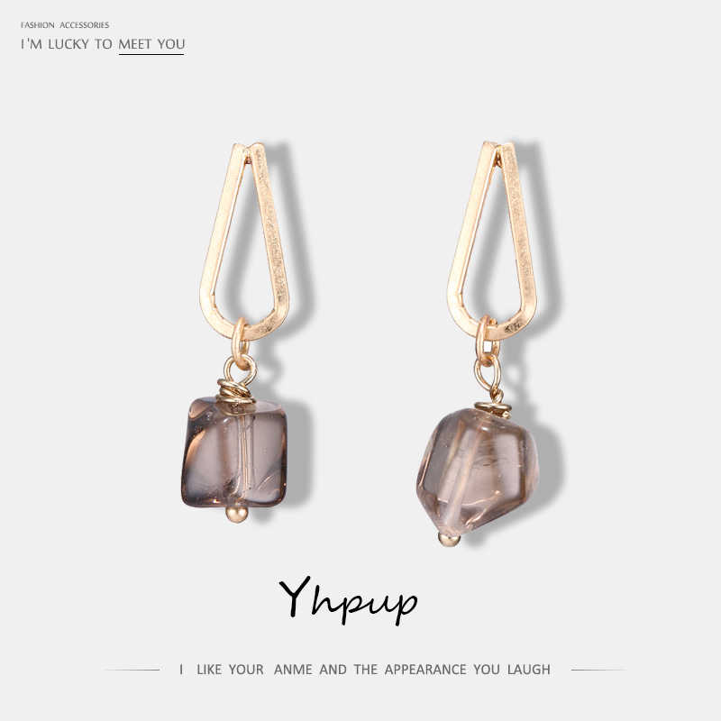 Yhpup Natural Stone Luxury Fashion Dangle Earrings Metal Vintage Wedding Party Earrings For Women Bijoux