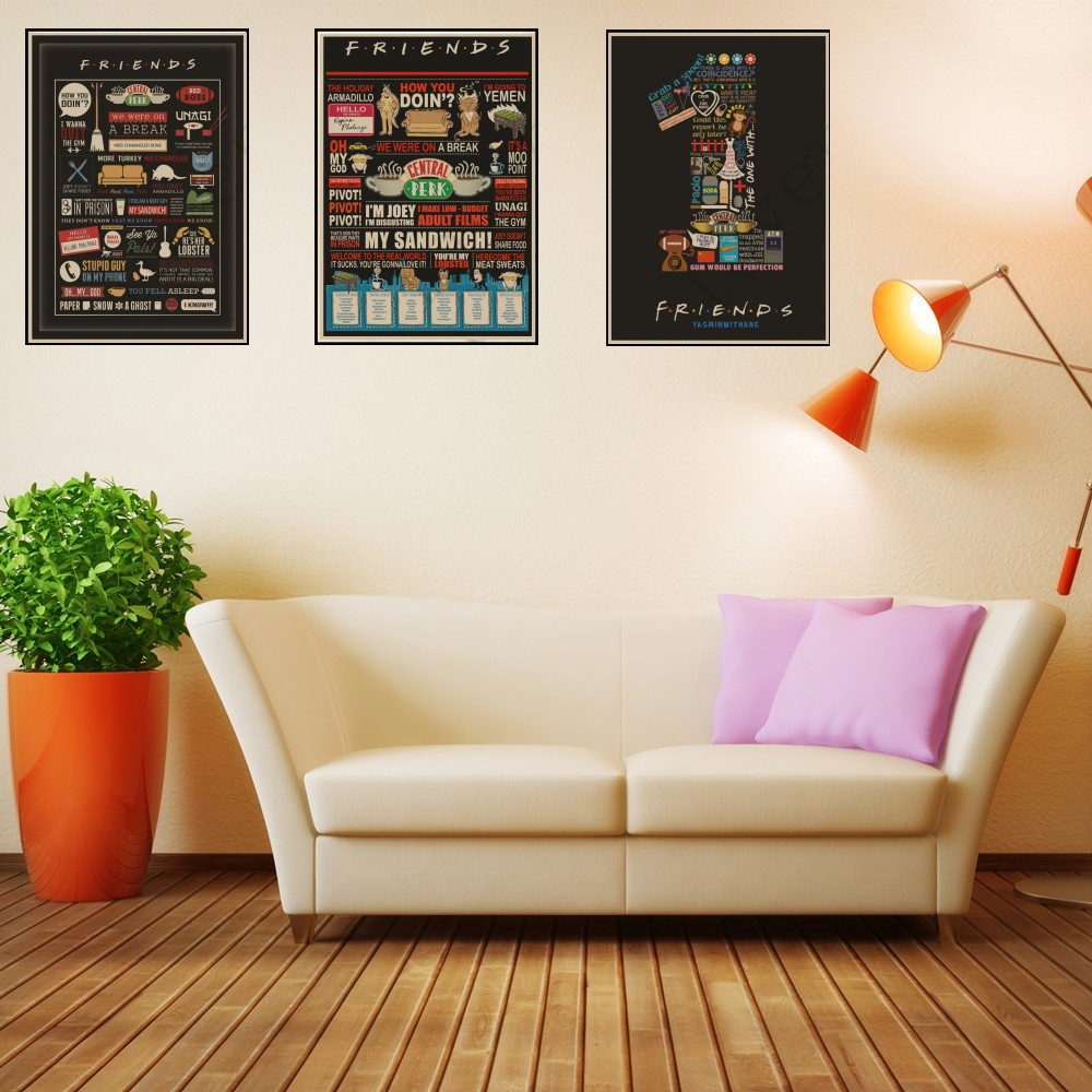 Friends TV Show Classic Quote Posters Kraft Paper 2019