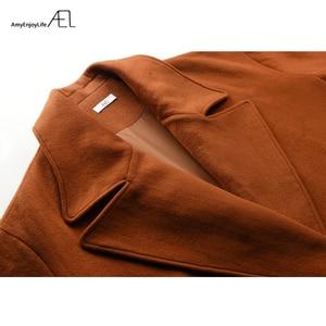 Image 5 - AEL Winter womens Coat plus thick Oversize Big Turndown Collar Woolen Overcoat Hight Quality Female Camel Wool Coat Plus Size