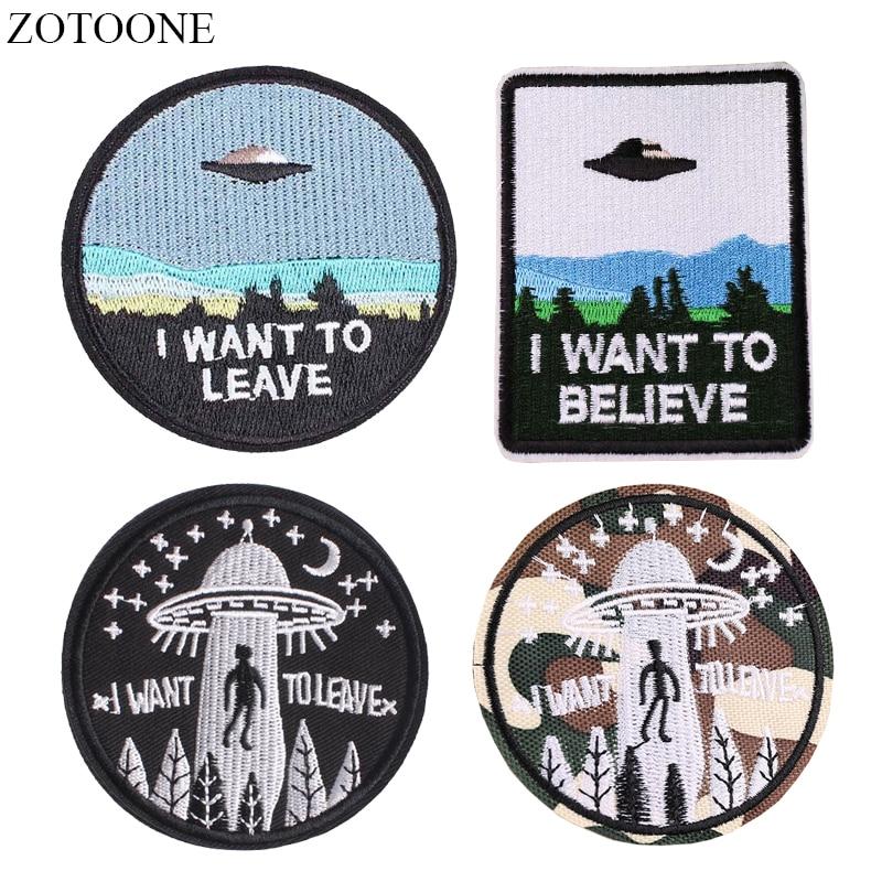 ZOTOONE-Parches de Alien para mochila, ropa