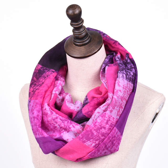 Plaid Dark Light Colors Loop Scarf | Infinity Scarves | Up to 60% Off Now