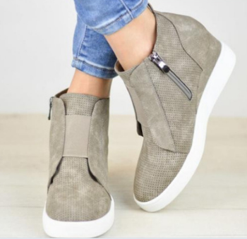 XEK 2018 zapatos de mujer de tacón alto zapatos de mujer cuñas zapatillas de aumento de altura zapatos de mujer ZLL366