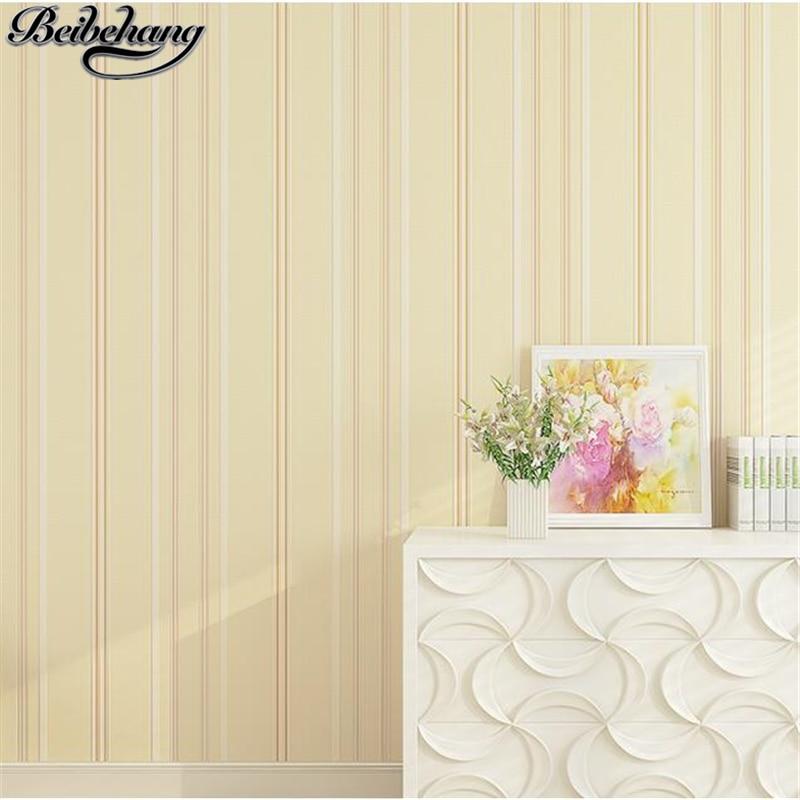 beibehang Vertical striped non-woven wallpaper simple modern bedroom wallpaper embossed plain living room wallpaper TV wall beibehang non woven wallpaper simple