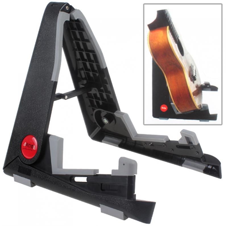 adjustable foldable abs guitar ukulele stand a frame holder bracket mount for ukulele violin. Black Bedroom Furniture Sets. Home Design Ideas