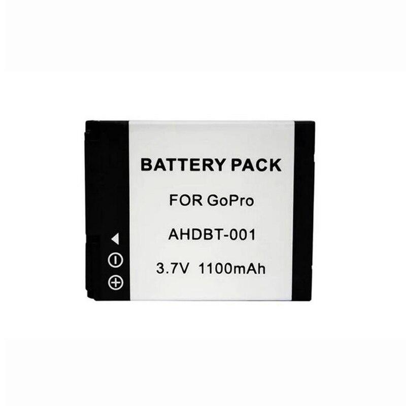 Pour Gopro Hero 2 1 AHDBT-001 D'action Caméra 1100 mAh Batterie Pour Go pro Sport Caméra Remplacement Rechargeable Batterie Bateria
