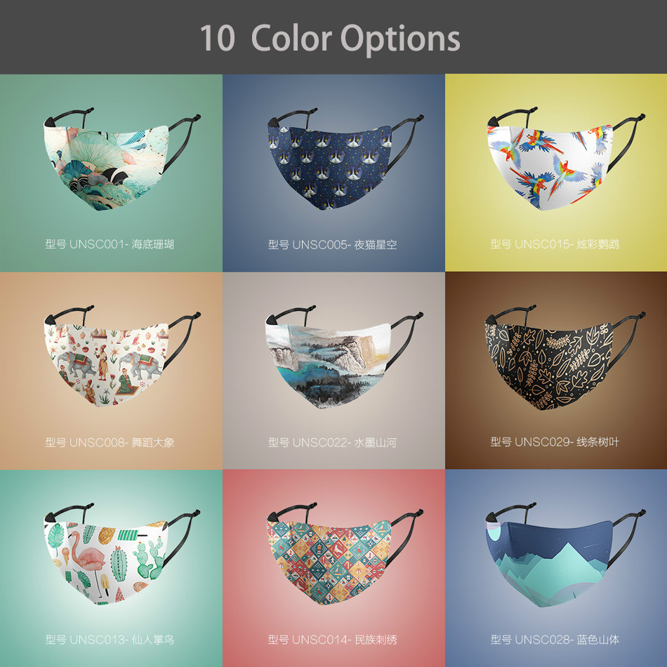 Moledodo 10 Colors Mouth Mask Adult Anti-UV Breathable Dust-proof Ice Silk Thin Section Outdoor Face Mask