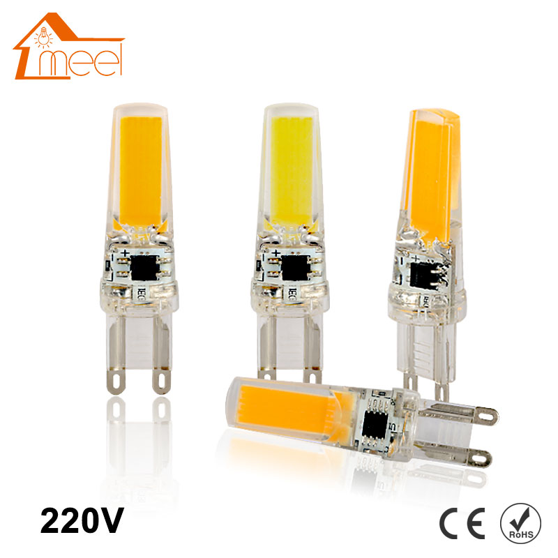 Dimmable G9 COB LED Lamp 220V COB G9 LED Bulb Light Crystal Silicone 360 Beam Angle Light replace Halogen Spotlight Chandelier top quality 1508 cob g9 2w 220v dimmable corn light bulb led chandelier crystal lamp art galleries crystal lamps