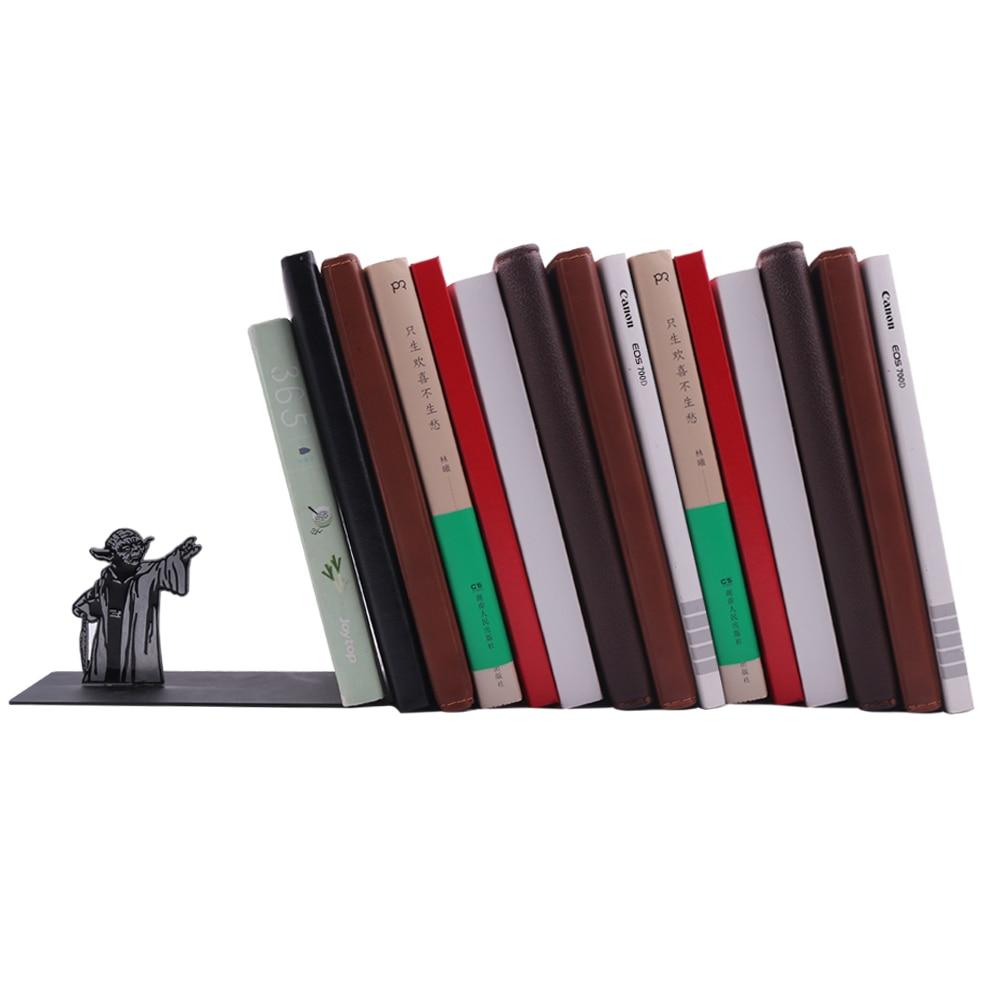 Neue Star Wars Meister Yoda Metall Bücherregal Bücherregal BUCHSTÜTZEN Buch Halter Geschenke Lesen Fetisch Geschenk Geburtstag Präsentieren