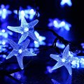 20ft 30 LED Starfish Solar String Light Fairy Christmas Decorative Lighting for Indoor/Outdoor, Garden, Home, Patio, Porch,Party