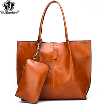 Famous Brand Oil Wax Leather Ladies Hand bags Luxury Handbags Women Bags Designer Large Capacity Tote Bags for women Sac A Main zmqn luxury handbags women bags designer ladies hand bags female leather famous brand chain bag for women 2018 high quality a910