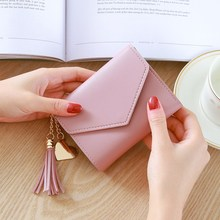 Short Wallet Women Fashion Tassel Purse Female Mini Wallets Korean Students Lovely Small Porte Monnaie Femme