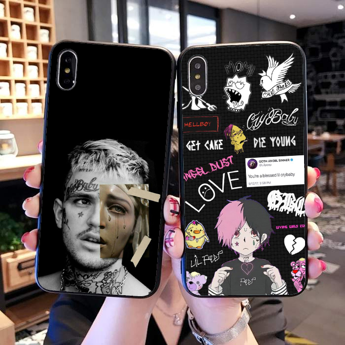 For Iphone X Cases Emotional Hip-hop Rapper Lil Peep Case For Iphone 7 8 Xs Max Xr Soft Tpu Cover For Iphone 6 6s 7 8 Plus Case 100% High Quality Materials