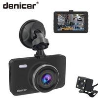 Denicer Car Dash Cam 3.0 Screen Camera Full HD 1080P 30fps Dvr Dual Lens with Rear View Auto Registrar Car Video Recorder DVRs
