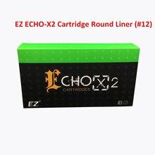 EZ ECHO-X2 Cartucho de Agulha #12 (0.35mm) Rodada Liner Agulha de Tatuagem para Rotary Máquina de Tatuagem Cartucho Caneta 20 Pçs/caixa