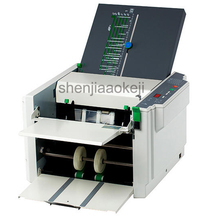 Automatic Paper Folder Machine Electric Folding Machine Crease Machine Stacker paper Folding Machine RD-297  1pc