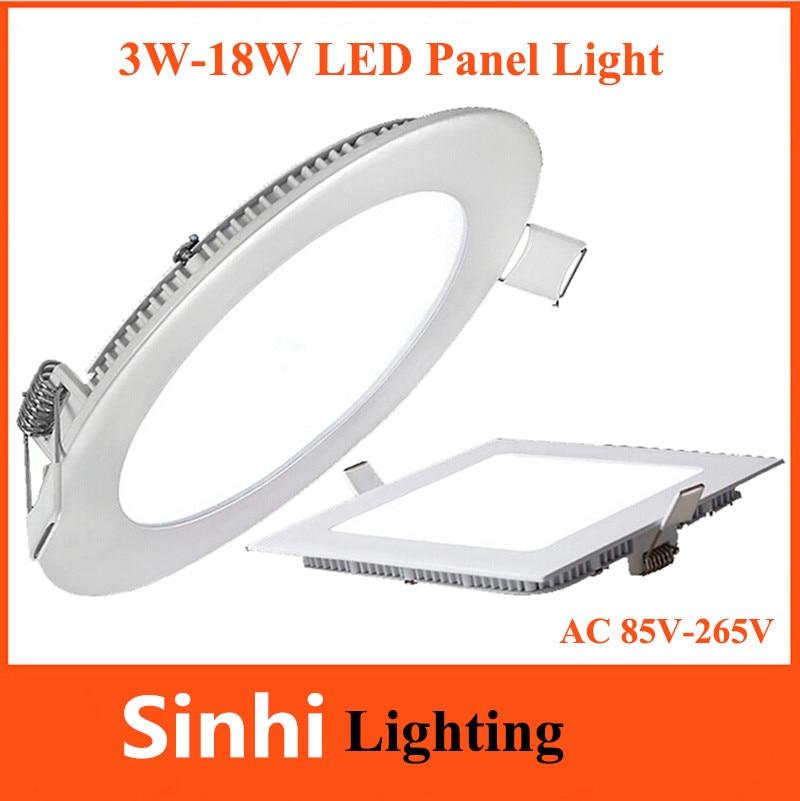 18w Led Panel Light Flat Ultra Thin Led Panel Downlight: Ultra Thin 3w 4w 6w 9w 12w 15w 18w Led Panel Light Round