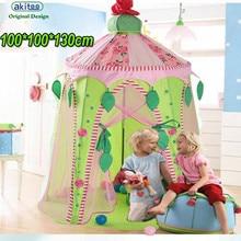 Akitoo, новинка, 100*100*130 см, детские палатки, принцесса, мальчик, розовый топ, Замок принцессы, маленький и средний, детская игрушка, игра-головоломка