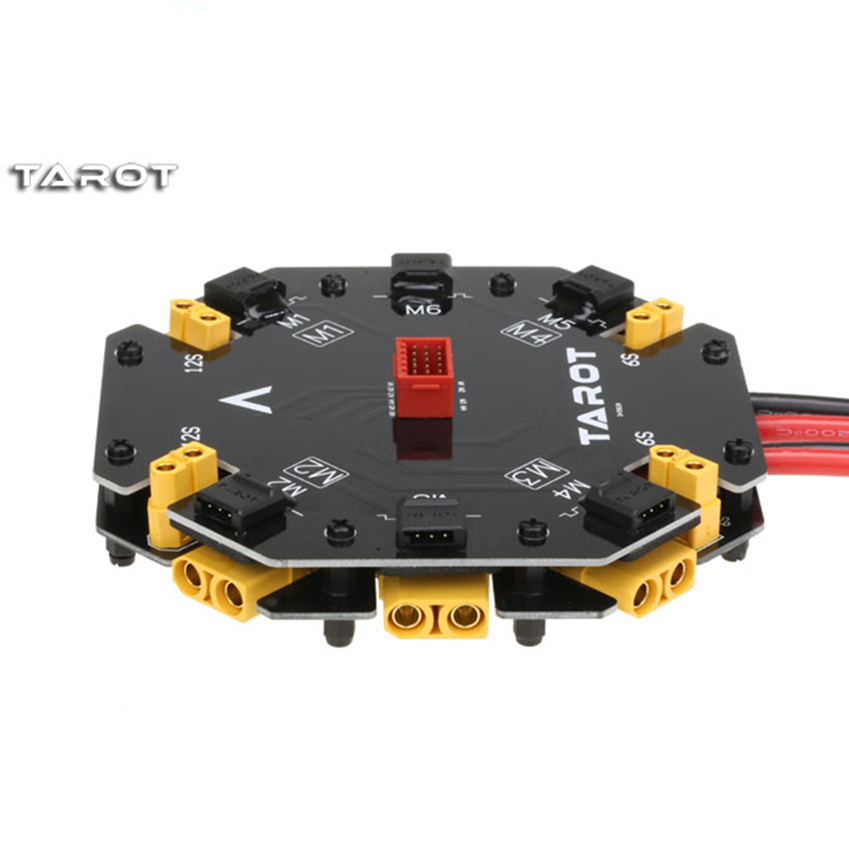 Tarot-RC Power Distribution Management Module 12S 480A High Current Distribution Integrated TL2996 for Agricultural  Quadcopter distribution