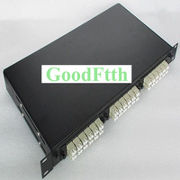GoodFtth 1U 19 Standard rack mount MPO patch panel 72 cores with MPO LC box