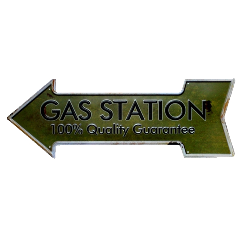 Arrow Gas Garage Tin Sign Metal Plate Vintage Bar Coffee Pub Cafe Decorative Advertising ...