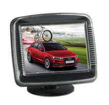 New Arrival HD 3.5 inch  TFT-LCD Screen Car Monitor Two- Way Video for  /DVD / VCD/Rear View Reverse Backup Camera DC 12-24V