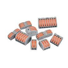 Универсальные клеммы блок плагин для электрических проводов разъем 222-412 413 414 415 418 SPL-2 3 Тип проводка кабеля Разъем