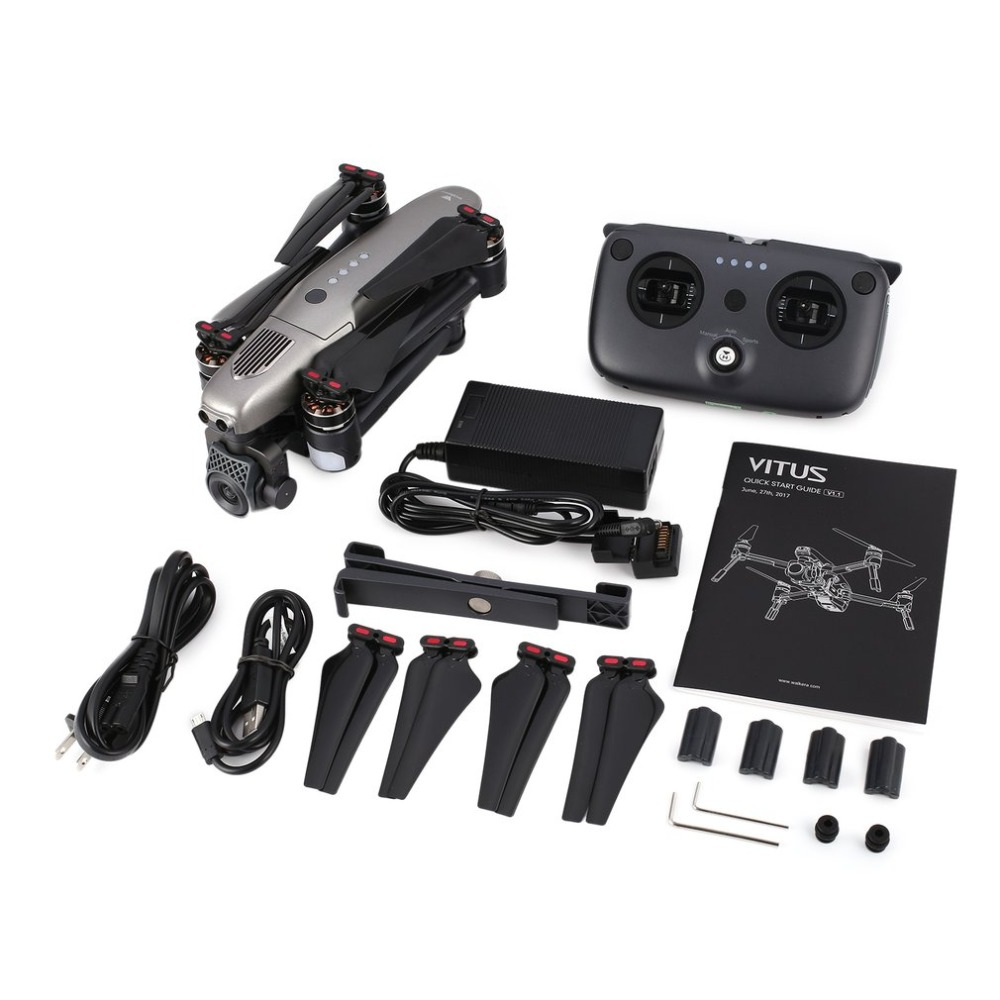 Walkera VITUS 320 Folding 4K HD Camera 5.8G FPV RC Drone Quadcopter Aircraft with 3 Axis Gimbal GPS Obstacle Avoidance AR Games