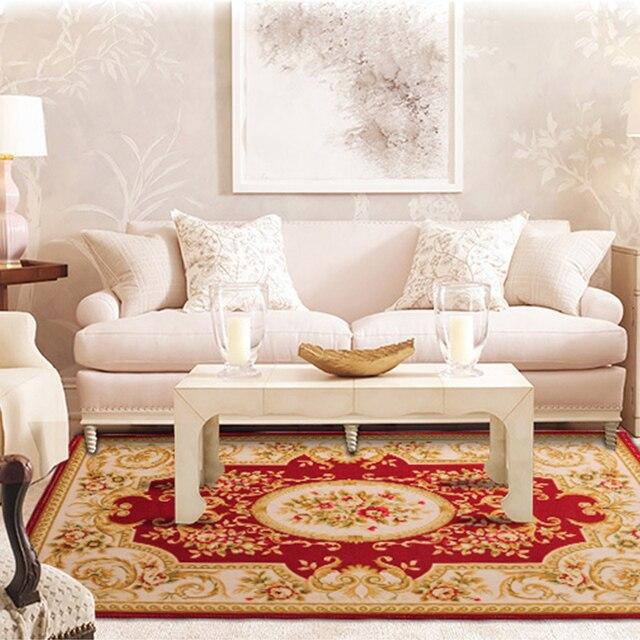 Neue Europaische Klassische Wohnzimmer Teppiche Textile Jacquard Teppich Fur Schlafzimmer Couchtisch Hause Anti Rutsch Boden Matten