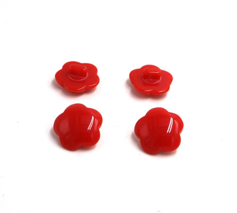 Красный Смола кнопки конфеты цвет грибы Пряжка ребенок пряжки свитер в форме цветка diy кнопки 22 мм 30 шт./лот