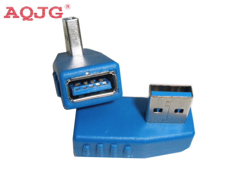 10pcs /lot new arrival Right + Left angle 90 degree USB 3.0 Male To A Female Adapter Converter AQJG usb micro 5pin male to mini 5pin female 90 degree angle right adapter converter