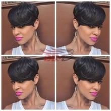 27 Pieces Brazilian Virgin in Human Short Cut Hair Weave with Free Closure Human 27 Piece Short Bump Hair Weave Free Shipping