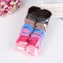 100PCS/Set Candy Color Hair Holders Elasticity Rubber Hair B