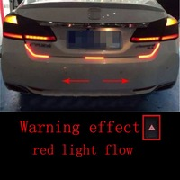 Car Styling Dual Color Flowing Type LED Light Strip Brake Running Tailgate Light LED Strip Lighting Rear Trunk Tail Light
