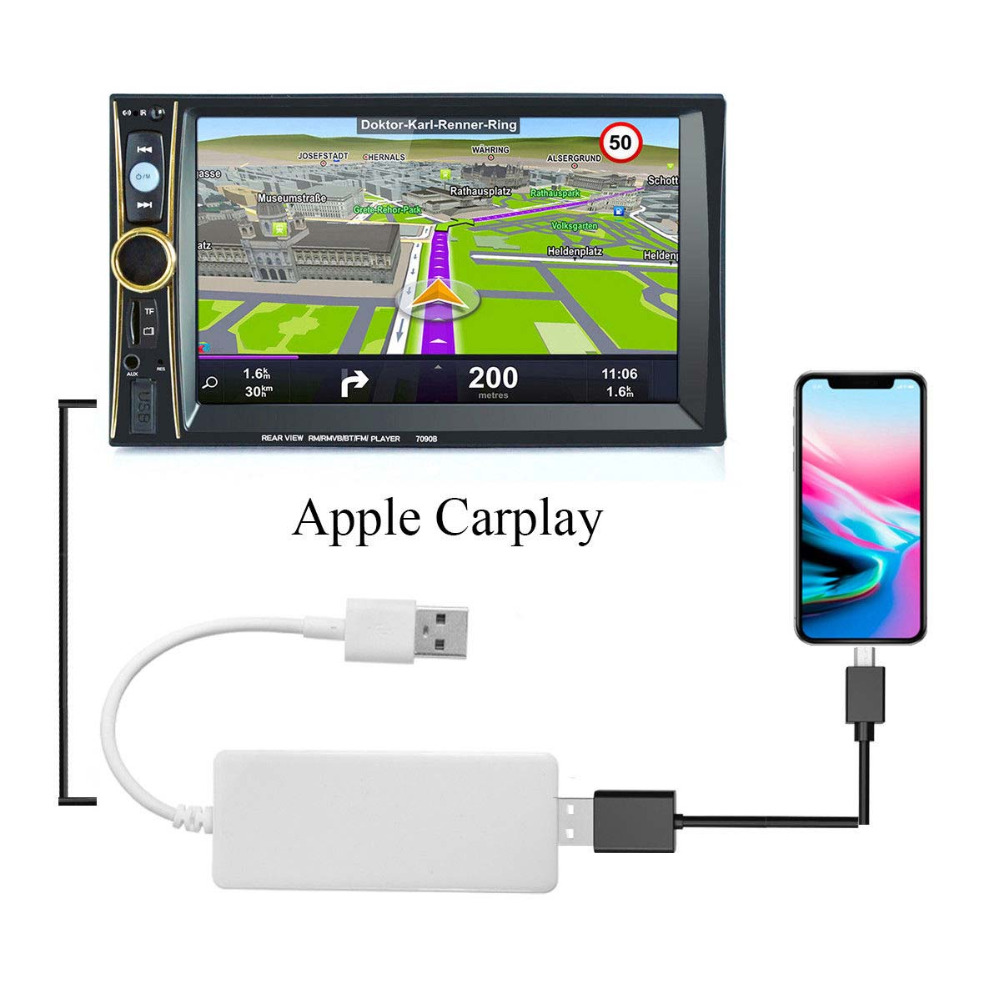 Universal Car Link Dongle Auto Link Dongle Navigation Player Android Auto USB for Apple CarPlay