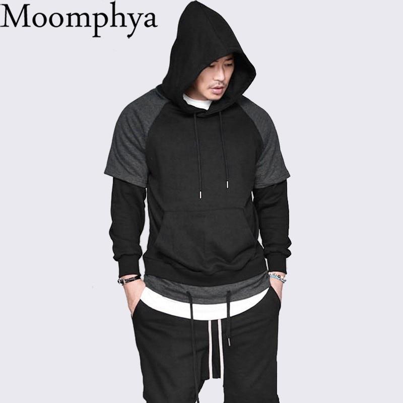 a3cedd5924 ... z kapturem męska Streetwear Łączenie bluza z kapturem męska Hip hop  bluzy z kapturem mężczyzn Połowie kieszeń z kapturem mężczyzn ubrania 2018  Ceny