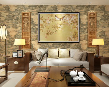 beibehang Classical fashion papel de parede wallpaper garden flowers and birds non-woven home living room bedroom TV background
