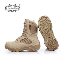 New exhibition Outdoor work Military boots Men Quality Brand Tactical Desert Combat  Work Shoes Special Force Ankle Snow Boots