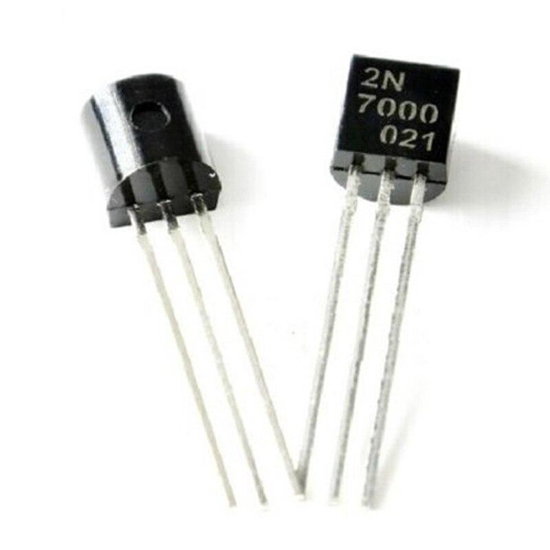50PCS 2N7000 TO-92 MOSFET N-CHANNEL 60V 0.2A Transistor 50pcs 2n7000 to 92 mosfet n channel transistor new
