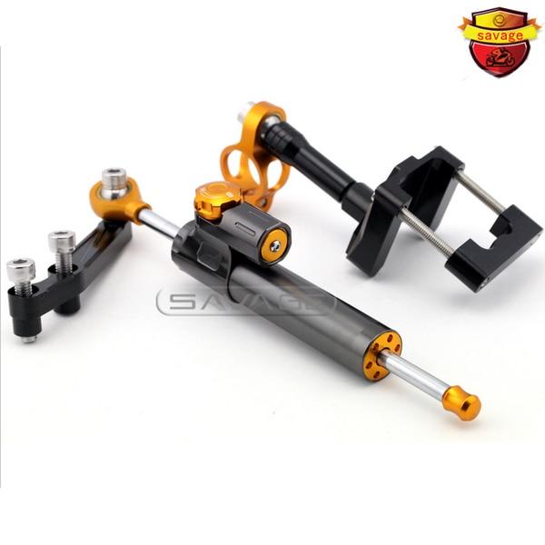 For KAWASAKI EX250R NINJA 250 08-13, NINJA 300 13-16 Motorcycle Steering Damper Stabilizer Adjustable Linear with Bracket Kit C