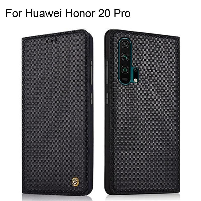 Étui pour huawei Honor 20 Pro étui de luxe en cuir véritable motif Crocodile Honor20 Pro coque de Protection arrière en cuir