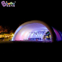 Custom made 10x8x6 meters inflatable outdoor stage canopy \/ inflatable stage canopy tent toy tents