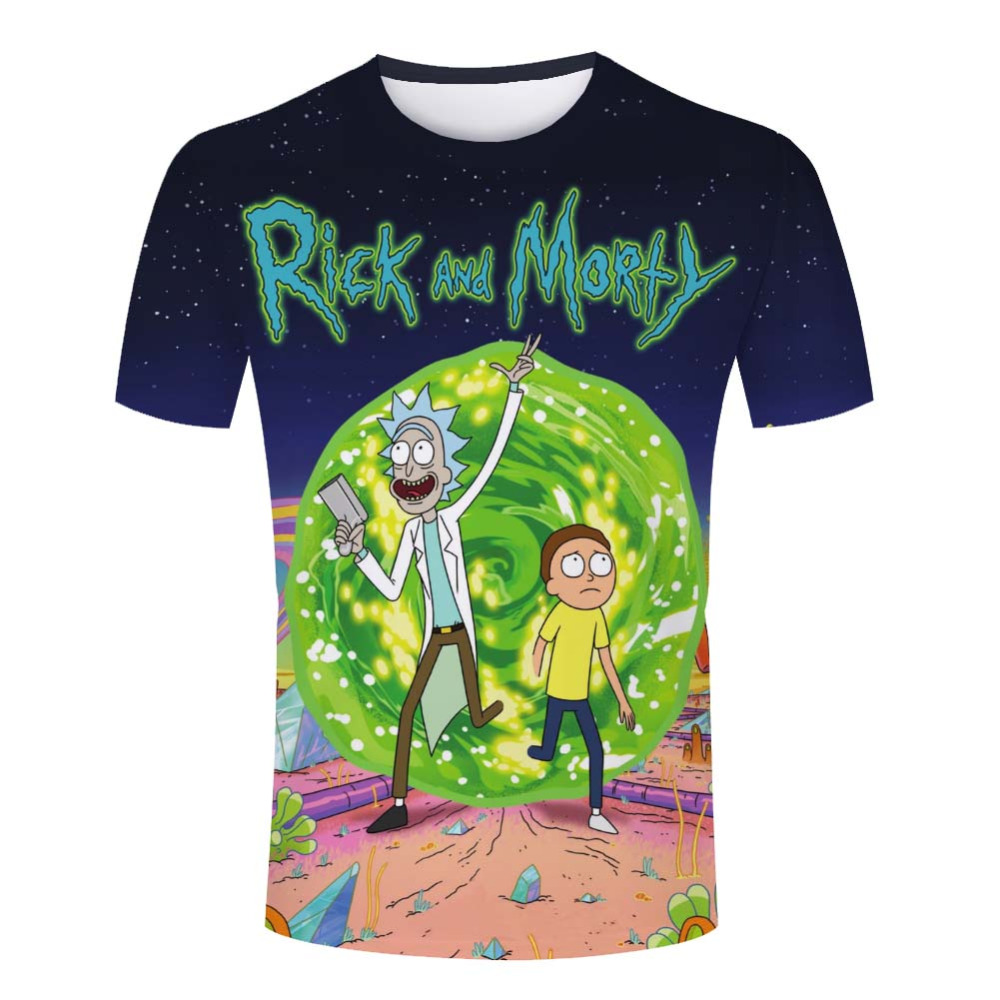 Tight clothing rick and morty male t shirts summer short for Best inexpensive dress shirts