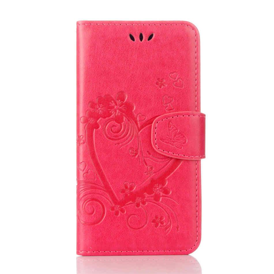 Liefde Bloem Boek Cover Leather Voor Capa Samsung J120 A310 A320 A510 A520 A720 S5Mini S6 S7 S8Plus J1 J5 j3 Prime Telefoon Tassen D23Z