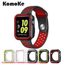 For iWatch Apple Watch Series 1&2&3 38mm 42mm Silicone TPU Soft Case Full Shell Frame Sport Strap Screen Protector Bumper Cover