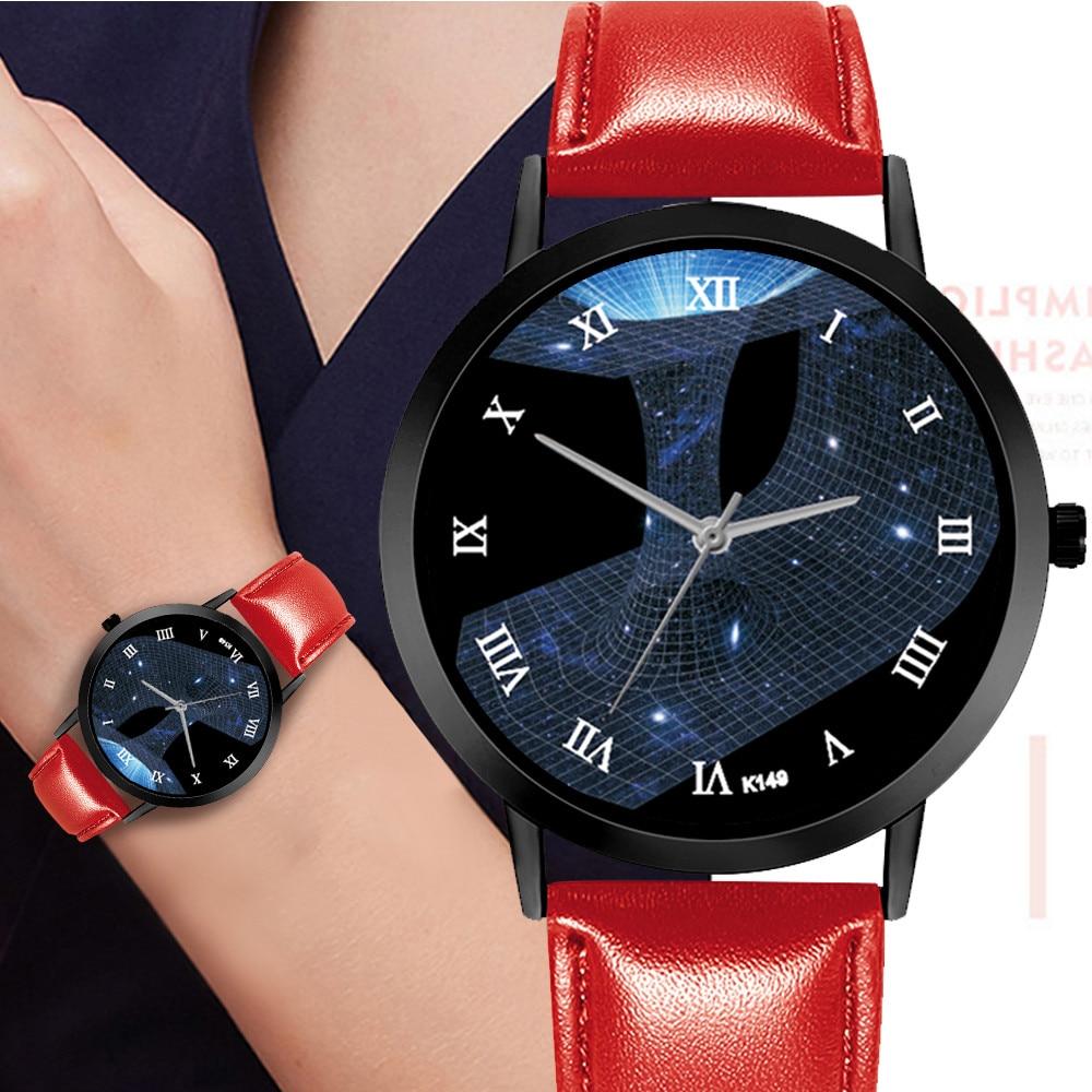 2019 Luxury Brand Women's Watch Simple Style Leather Band Quartz Watch Fashion Wristwatch Technological Sense Clock For Women