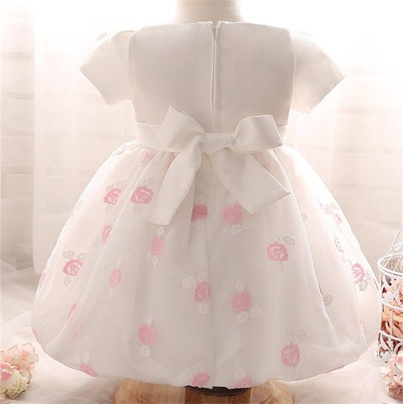 abb3cd0634 1 Año de Cumpleaños de la Niña Vestido de Verano 2017 Bebé de La Princesa  vestidos De Bautismo vestidos vestido de Fiesta de La Flor Con Perlas Tutu  vestido ...