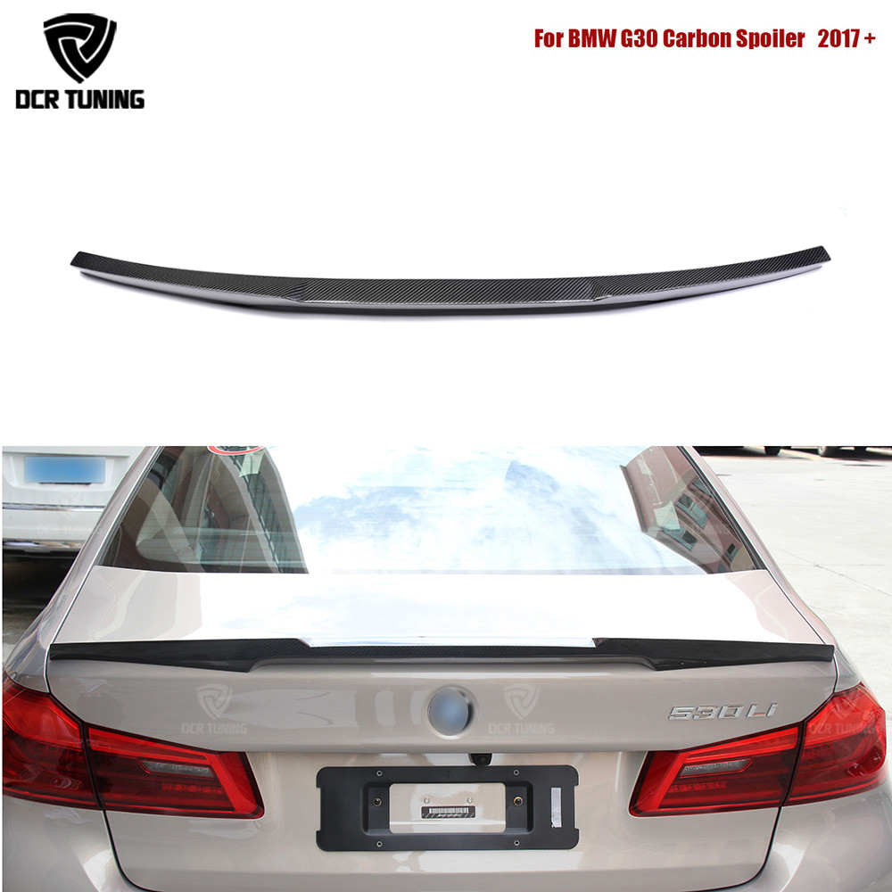M Performance For BMW 5 Series G30 Spoiler 530i 540i Carbon Fiber Rear Trunk Spoiler Wings M4 Style 2017 - UP F90 M5 2018+M Performance For BMW 5 Series G30 Spoiler 530i 540i Carbon Fiber Rear Trunk Spoiler Wings M4 Style 2017 - UP F90 M5 2018+